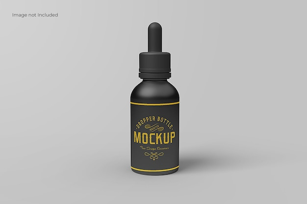 Front view dropper bottle mockup