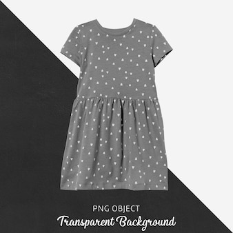 Front view of gray children dress mockup