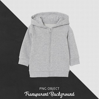 Front view of gray children hoodie