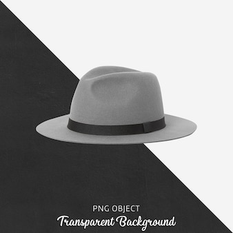 Front view of gray hat mockup