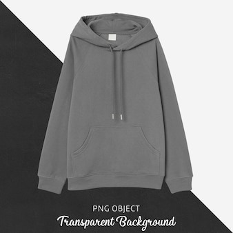 Front view of gray hoodie mockup