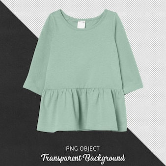 Front view of green basic dress mockup