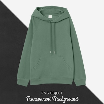 Front view of green basic hoodie mockup