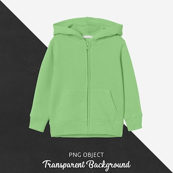 Front view of green children hoodie mockup