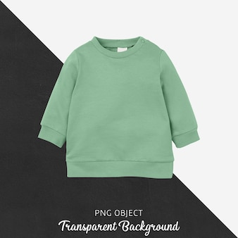 Front view of green children sweatshirt mockup
