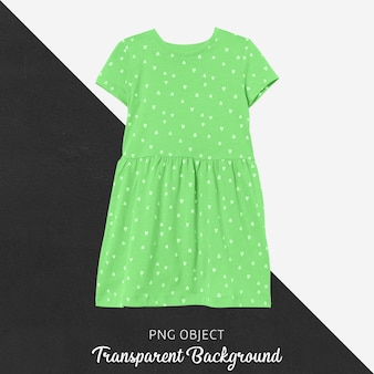 Front view of green dress children mockup