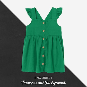 Front view of green dress mockup