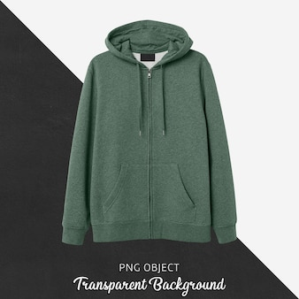 Front view of green hoodie mockup