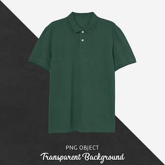 Front view of green polo tshirt mockup
