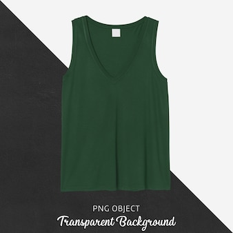 Front view of green tank top mockup