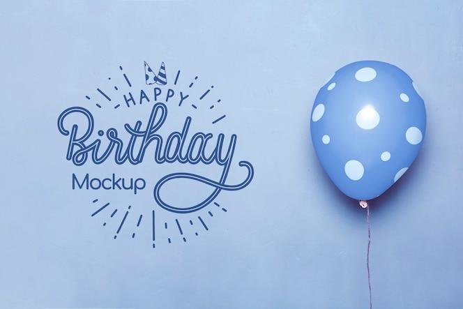 生日快乐模拟气球正面图