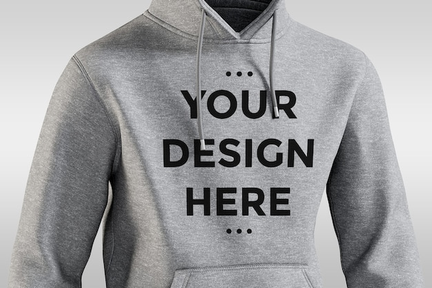 Front view hoodie mockup isolated
