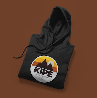 Front view of hoodie mockup isolated