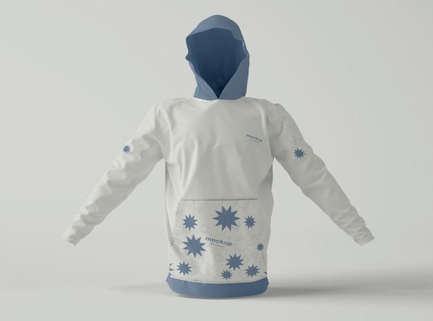 Front view of hoodie mockup