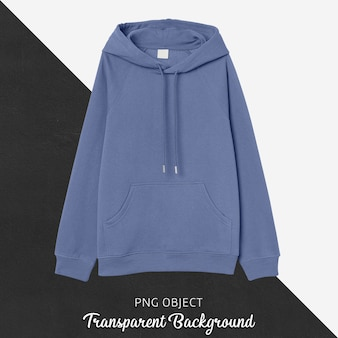 Front view of light blue hoodie mockup