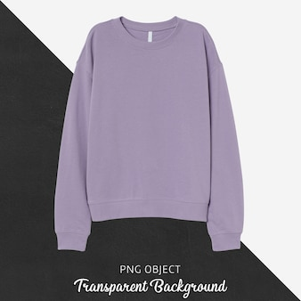 Front view of light purple sweatshirt mockup
