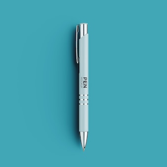 Front view of luxury pen mockup isolated