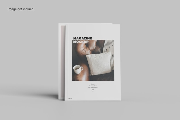 전면보기 잡지 목업 디자인