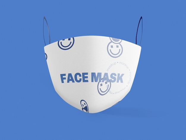 Front view of medical face mask mockup