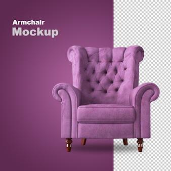 Вид спереди кресла в 3d-рендеринге