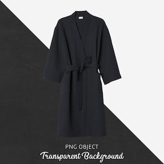 Макет черного халата, вид спереди