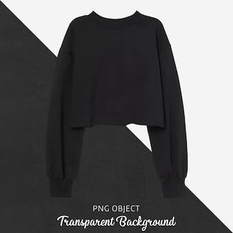 검은 색 자르기 운동복 모형의 전면보기