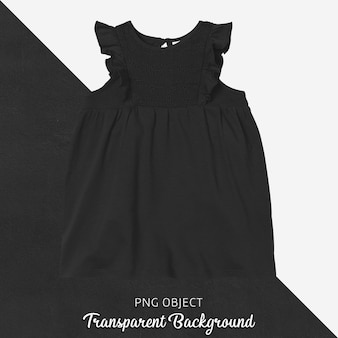 黒のドレスのモックアップの正面図
