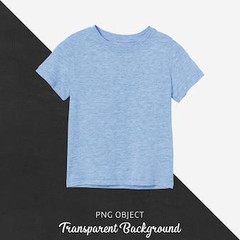 Вид спереди синего базового макета детской футболки