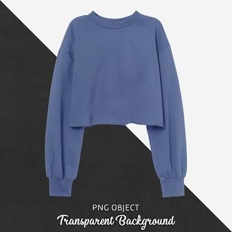 파란색 자르기 스웨터 모형의 전면보기