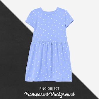 青いドレスのモックアップの正面図