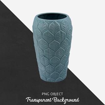Вид спереди синей узорчатой вазы