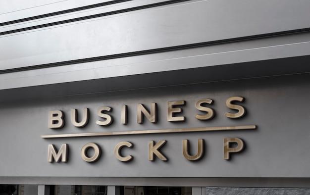 Вид спереди дизайн знака макета бизнеса