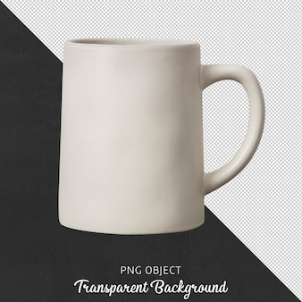 Вид спереди керамической бежевой кофейной кружки