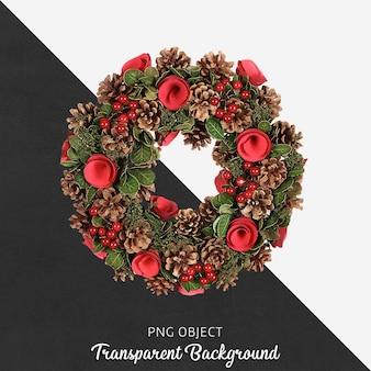 分離されたクリスマスドア飾りの正面図
