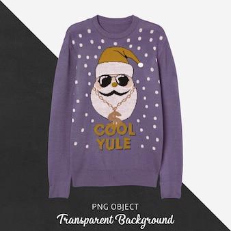크리스마스 스웨터 모형의 전면보기