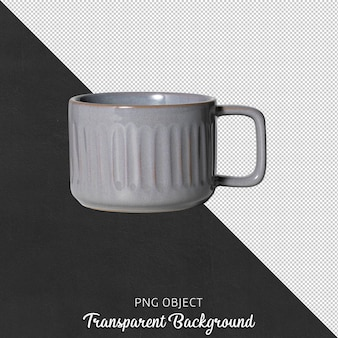 고립 된 커피 잔 또는 커피 잔의 전면보기