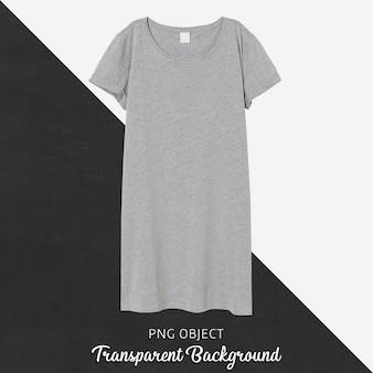 회색 기본 드레스 모형의 전면보기