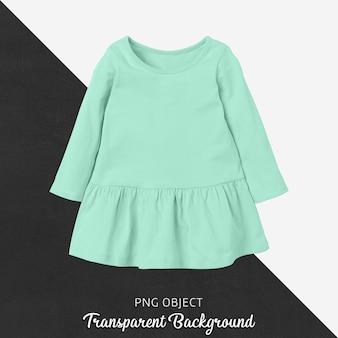 녹색 어린이 드레스 모형의 전면보기