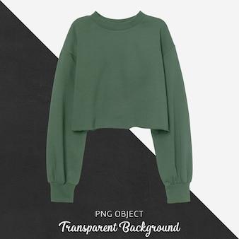 녹색 자르기 운동복 모형의 전면보기