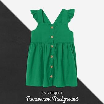 緑のドレスのモックアップの正面図