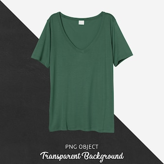 녹색 일반 tshirt의 전면보기