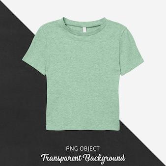녹색 티셔츠 모형의 전면보기