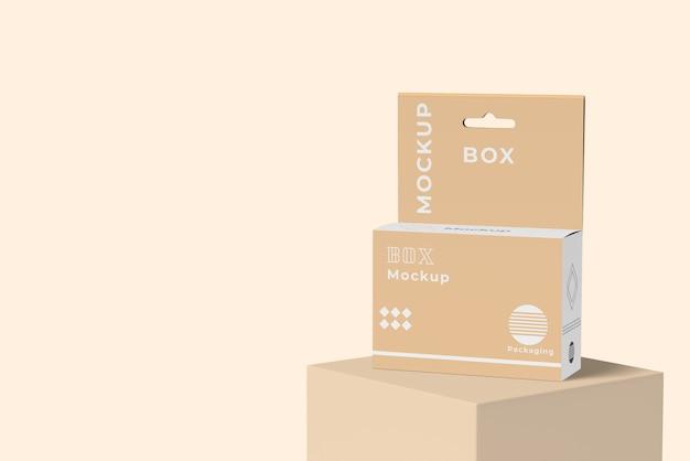 최소 상자 모형의 전면보기