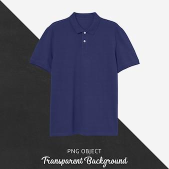 네이비 블루 폴로 tshirt 모형의 전면보기