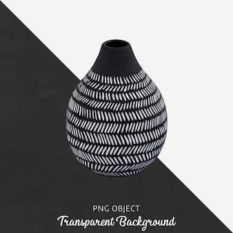 Вид спереди узорчатого макета черной вазы
