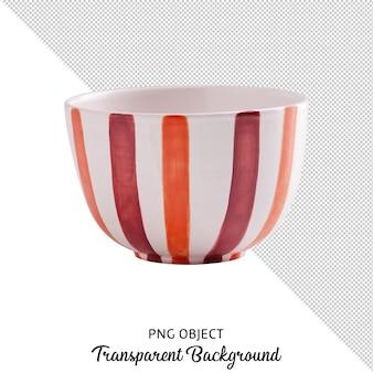 고립 된 꽃 무늬 그릇의 전면보기