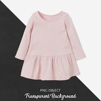ピンクの子供たちのドレスのモックアップの正面図