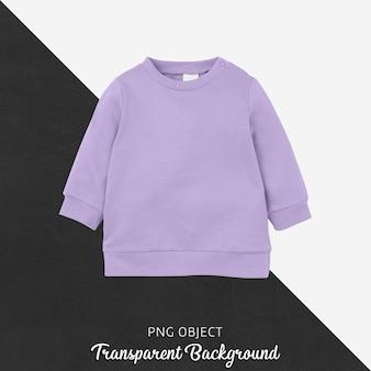紫色の子供たちのスウェットシャツのモックアップの正面図