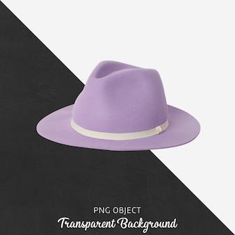 Вид спереди макета фиолетовой шляпы