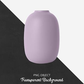 紫色の花瓶の正面図
